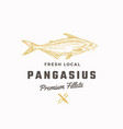 pangasius abstract sign symbol or logo vector image vector image