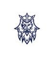 poseidon esport logo template vector image vector image