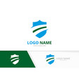 privacy logotype design template shield vector image