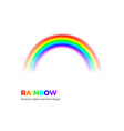 rainbow icon isolated on white background sun vector image
