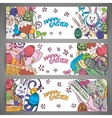 set creative multi colour banners vector image vector image