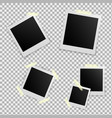 set of template photo frame with adhesive tape vector image vector image