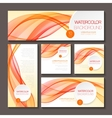 Set of templates for print or web design vector image vector image
