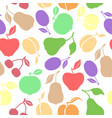 silhouette fruits pattern seamless vector image