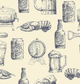 Sketch beer pattern vector image