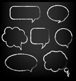 speech bubble big set vector image vector image