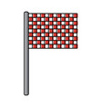 sport flag grid competition icon vector image vector image