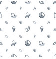 summer icons pattern seamless white background vector image vector image