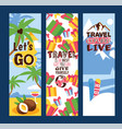 travelling concept set of banners vector image