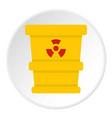 ttrashcan containing radioactive waste icon circle vector image vector image