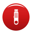 usb icon red vector image vector image