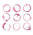 variety wine stain set vector image vector image