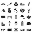 vatican icons set simple style vector image vector image