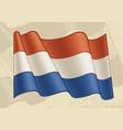 vintage flag netherlands vector image