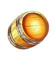 vintage hand drawn cask barrel for liquid color vector image