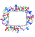 white square new year background with colorful vector image vector image