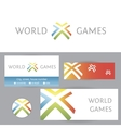 World games Template logo and corporate identity vector image vector image