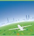 zurich skyline flight destination vector image