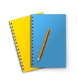 Notepads and pencil vector image