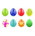 different easter eggs vector image