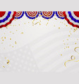 4 of july usa independence day abstract holiday vector image