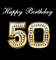 50th birthday vector image vector image