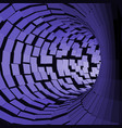 abstract tunnel futuristic style 3d surface vector image