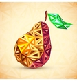 Abstract vintage colors triangles pear vector image vector image