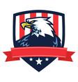 american eagle logo mascot flag shield vector image vector image