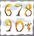 autumn tree number
