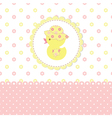 Baby shower with duckling vector image