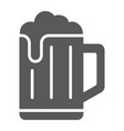 beer glyph icon drink and alcohol lager sign vector image vector image
