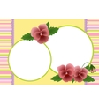 Blank template for photo frame vector image vector image