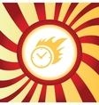Burning clock abstract icon vector image vector image