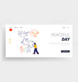 childhood happiness landing page template little vector image