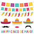 cinco de mayo sombrero photo booth props vector image