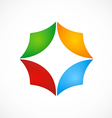 circular shape business color logo vector image