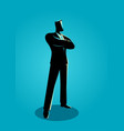 confident business man standing with folded arms vector image vector image