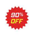 discount sticker icon in flat style sale tag sign vector image vector image