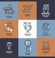 education icons set online vector image