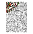 Ethnic colored floral zentangle doodle background vector image vector image