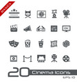 film industry and theater icons basics vector image vector image