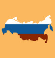Flag map of russia