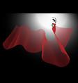 flamenco dancer sexy silhouette spanish woman vector image vector image