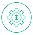 Gear with dollar sign line icon vector image vector image