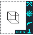 geometric cube icon flat vector image vector image