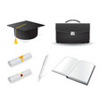 graduation design elements vector image