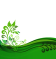 Green floral background design vector image