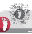 Hand drawn trail icons with icons background vector image