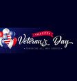 happy veterans day poster blue usa with balloons vector image vector image